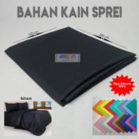 Bahan Kain Sprei Bedcover Polos Hitam Katun Lebar 240 Cm BEST PRICE