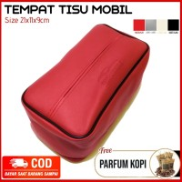 Tempat Tissu Asessoris Mobil warna merah