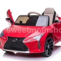 Mainan Mobil aki Lexus LC500 Lisensi Ban karet