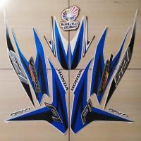 Striping Motor Honda Vario Techno 125 FI 2013 putih-biru