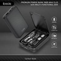 ibacks Clio Power Bank 5000mAh with Multi-Functional Box