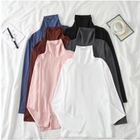 baju tangan panjang tebal leher sabrina / k style korean k pop