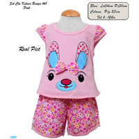 Setelan Baju Anak Perempuan Usia 6-12 Bln / Baju Harian Bayi Murah-461