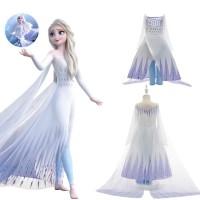 Jual Beli Baju Kostum Elsa Putih 2in1 Frozen 2 Princess Costume CG87