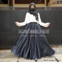 Rok Panjang Pesta Payung Muslimah Velvet Umbrella Jaguar Skirt Toska