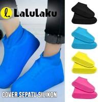LLK Cover Sepatu Karet Size M Anti Air Hujan Sarung Sepatu Silikon