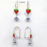 Anting Anak Strawberry Permata Desy - Perak / Silver