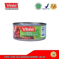 Tuna Kaleng / Ikan Tuna / Vinisi Tuna Saus Bawang Bombay 140 Gr