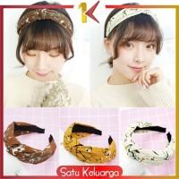 SK-C71 96 Headband Bando Korea Style Bandana Polos Bendo Kain Motif