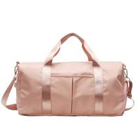Tas Gym / Tas Travel Wanita - Pink Canvas - Ukuran Besar / Big Size