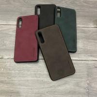 Caseme Original Leather Back Cover Case Samsung Galaxy A50 / A50S - Merah