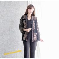 Outer Batik wanita cardigan blouse blazer santai - Lathi rintik
