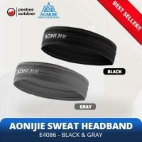 Jual AONIJIE Soft Headband Penahan keringat Wrist Band E4086 - BLACK