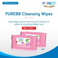 Pure BB Cleansing Wipes Tea Olive 60's ( Buy 1 Get 1 )