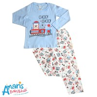 Amaris Piyama Anak 1 - 3 Tahun Motif Choo Choo