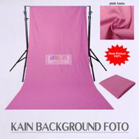 Kain Background Foto Produk Polos Katun Lembut 100x240 Cm Pink Fanta