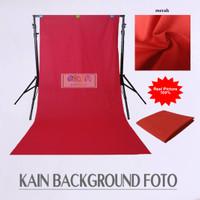 Kain Background Foto Meteran Polos Katun Lembut Size 100x240 Cm Merah