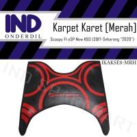 Karpet-Pijakan-Alas Kaki-Bordes Karet Merah Scoopy FI eSP New LED K93