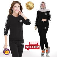 LM 07752 Baju Setelan Olahraga Senam Training Wanita NEW ADDS L