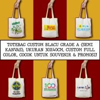 Tote Bag Custom | Totebag Blacu Grade A / Semi Kanvas | Goodie Bag