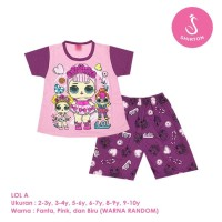 Baju Setelan Anak Perempuan Pendek 2-10 Tahun LOL A Shirton