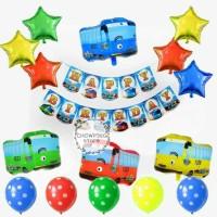 Paket Dekorasi Hiasan Balon Ulang Tahun / Happy Birthday Mobil Tayo 01