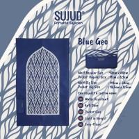 Sajadah Portable SUJUD | Blue Geometri | Sajadah Travelling