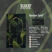 Sajadah SUJUD Green Leaf | Portable Pocketsize Travel