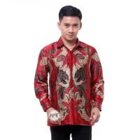Baju Batik Pria Semi Sutra Lengan Panjang Kemeja Batik Kantor Terbaru