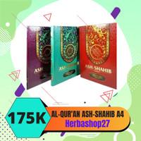 Mushaf Al-Qur'an ASH Shahib Ukuran Besar A4 Terjemahan Rasm Ustmani