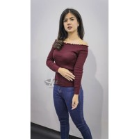 Baju Wanita Kaos Kriwil Panjang Sabri Rajut ®