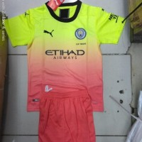 Product Newest Jersey Baju Bola Manchester City 3Rd Kids Anak