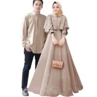 OUTFIT MUSLIM Cp Carita Baju Pasangan Couple Kondangan Pesta Muslimah