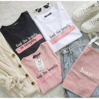 kaos oblong FIND BEAUTY atasan baju wanita