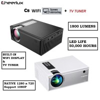 CHEERLUX C8 WiFi TV Tuner Version - Mini LED Projector 1800 Lumens