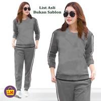 ARS 52017 Baju Setelan Olahraga Senam Training Wanita LINA L