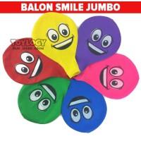 Mainan Anak Balon Latex Smile Emoji Jumbo Emoticon Balloon Dekorasi