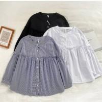 Atasan blouse wanita Manggo top bahan twiscone size fit L