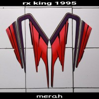 sticker motor rx king 1995 hitam-merah