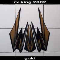 sticker motor rx king 2002 gold