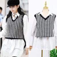 Blackpink Jennie 2Pcs Suit Korean Longgar Kaos Distro Wanita Shirt+