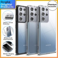 Ringke Fusion Case Samsung Galaxy S21 Ultra S21 Plus Soft Casing Cover - Clear, S21 Ultra