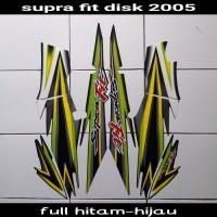 sticker motor supra fit disk 2005 hijau