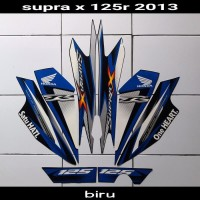 sticker motor supra x 125 2013 biru
