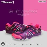 Sepatu Badminton Flypower White Control Black Pink Purple Ciamikstore