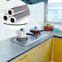 Wallpaper Stiker Dapur Bahan Alumunium Foil Anti Minyak Api