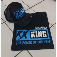 T-Shit Pria / Baju / Yamaha RX King /The power off king / Free Topi - Hitam, Topi