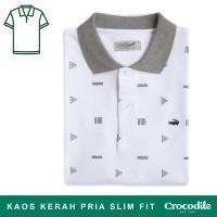 Crocodile CITY White - Kaos Kerah Pria Men Polo Shirt - Bahan Katun