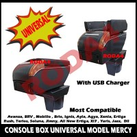 Console Box Mobil Universal Arm Rest With USB model MERCY