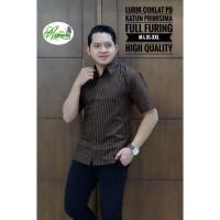 LURIK COKLAT Baju Batik Pria Bahan Katun Primisima